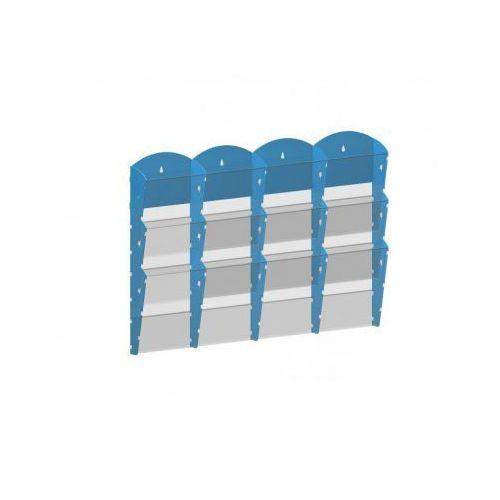B2b partner Plastikowy uchwyt ścienny na ulotki - 4x3 a5, biały