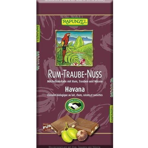 Rapunzel Czekolada mleczna z rodzynkami, rumem i orzechami laskowymi fair trade bio 100 g -