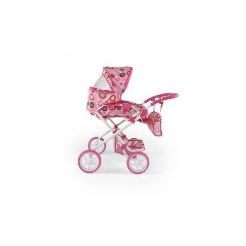 WÓZEK DLA LALEK PAULINA RÓŻOWO-BRĄZOW #B1 (wózek dla lalki)