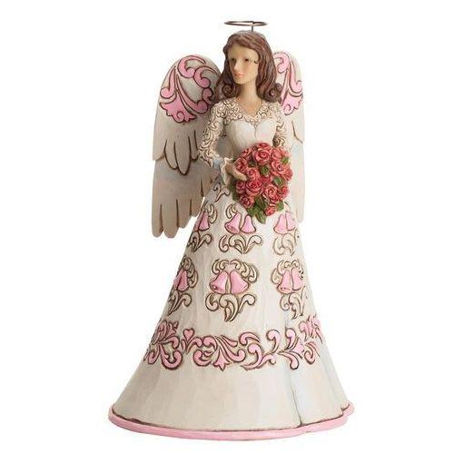 Jim shore Anioł z kwiatami na rocznicę ślubu, (blessing on your anniversay), 4038980 figurka dewocjonalia
