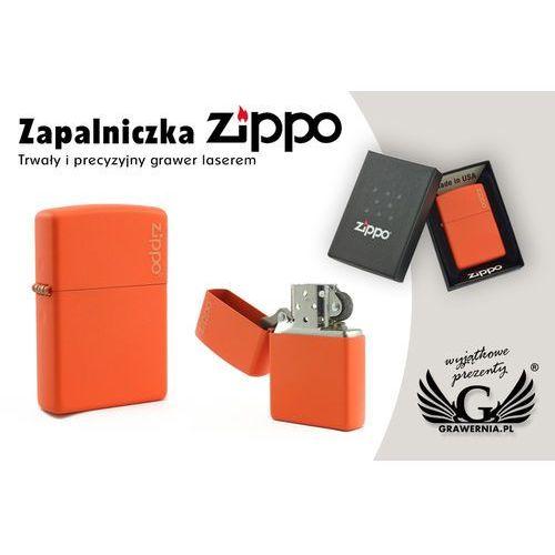 Zapalniczka ZIPPO Orange Matte Logo