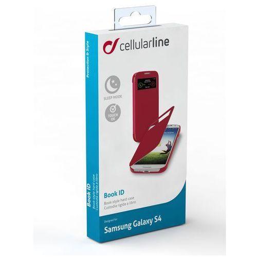 Pokrowiec CELLULAR LINE Book Id Samsung Galaxy S4 Czerwony, kolor czerwony
