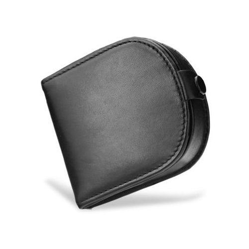 06185ac91dc14 podkówka portfel męski skórzany wysokiej jakości skóra czarny - czarny  marki Visconti 99