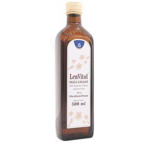 Olej lniany budwigowy - nieoczyszczony - Oleofarm - 500ml, produkt z kategorii: Oleje, oliwy i octy