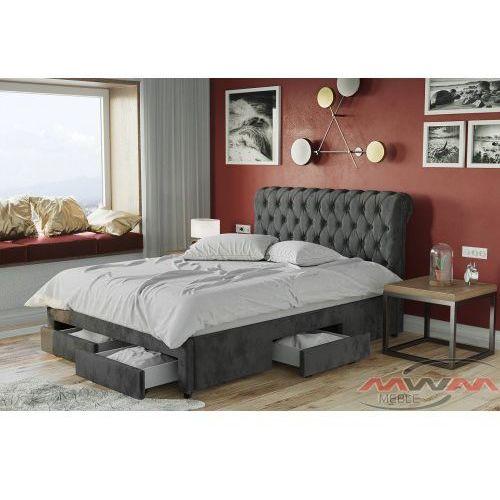 Łóżko tapicerowane do sypialni 180x200 1217d welur marki Meblemwm