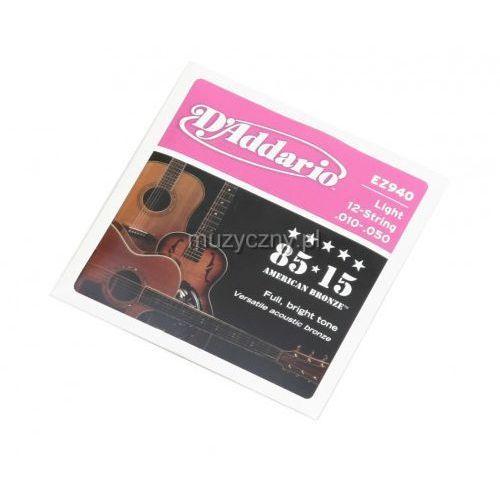 D′addario ez 940 12s struny do gitary akustycznej 10-50
