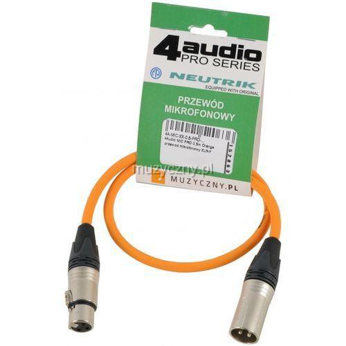4audio mic pro 0,5m orange przewód mikrofonowy xlr-f - xlr-m (pomarańczowy) neutrik