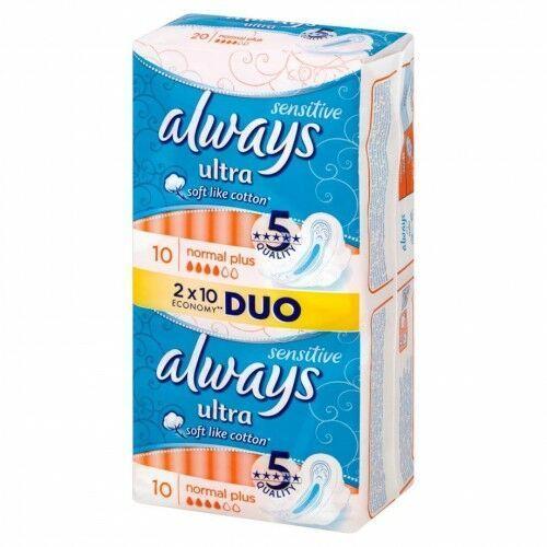 Promki24.com Always - podpaski ultra sensitive normal plus duo pack