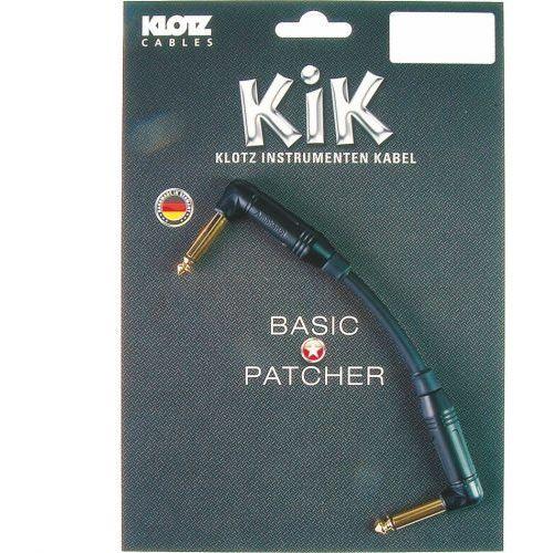kik pa 020 rr kabel instrumentalny jack kątowy-jack kątowy 0,2m, pozłacane wtyki marki Klotz