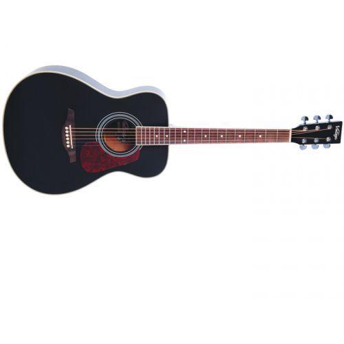 v300bk gitara akustyczna, solid top, black marki Vintage