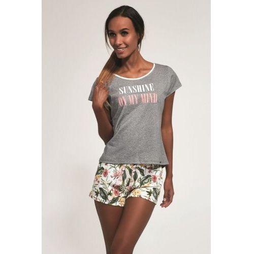 Bawełniana piżama damska 366/164 sunshine szara, Cornette
