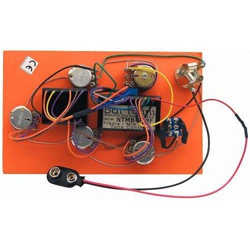 Bartolini hr-5.4/918 - pre-wired active preamp, 3-band eq