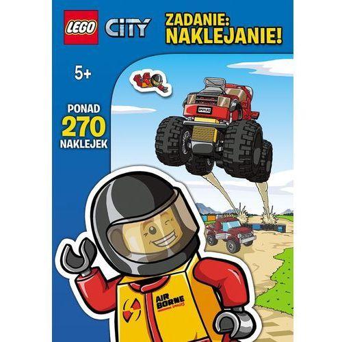 Książka w oprawie miękkej Lego City zadanie naklejanie