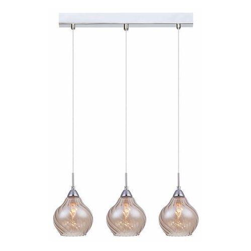 Italux Nowoczesna lampa wisząca temps mdm2171/3 b szklana oprawa sufitowa listwa chrom herbaciana