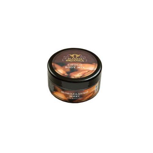 Pervoe reshenie - rosja Planeta organica - masło do masażu - czekoladowy mix - organiczne masło kakaowe, masło shea, zielona kawa, migdał, ylang-ylang