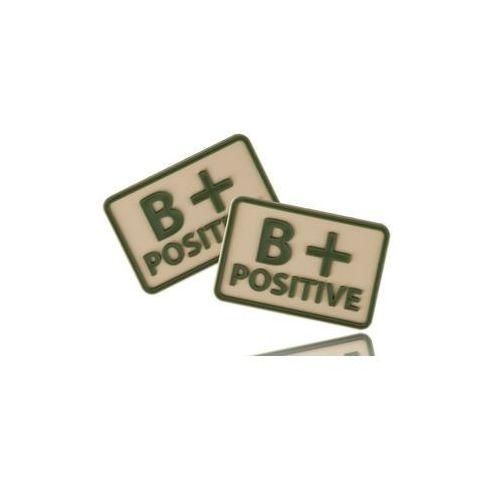 naszywka emblemat GRUPA KRWI kpl. 2szt. PVC khaki (OD-BLP-RB-13), OD-BLP-RB-13