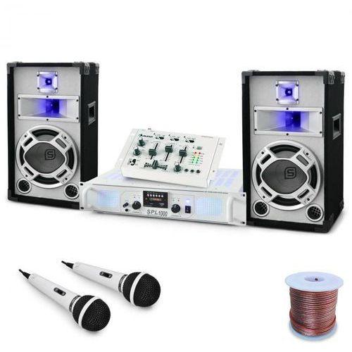 "Electronic-Star Zestaw DJ PA ""Polar Fox"" mikser amplifier kolumny 1500W (4260275629955)"