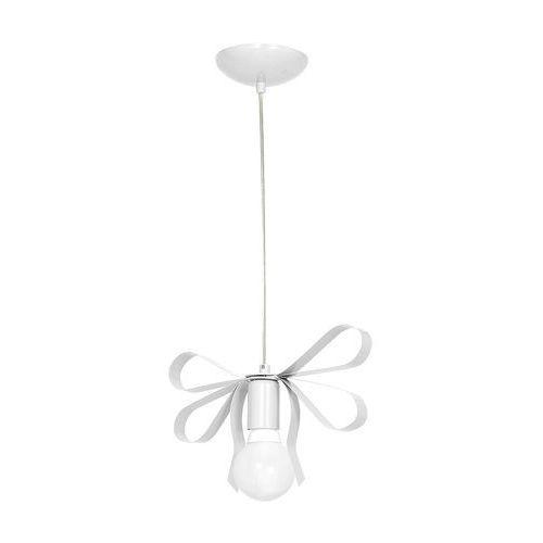 Lampa wisząca emma mlp 1036 metalowa oprawa do pokoju dziecięcego zwis kokarda biała marki Milagro