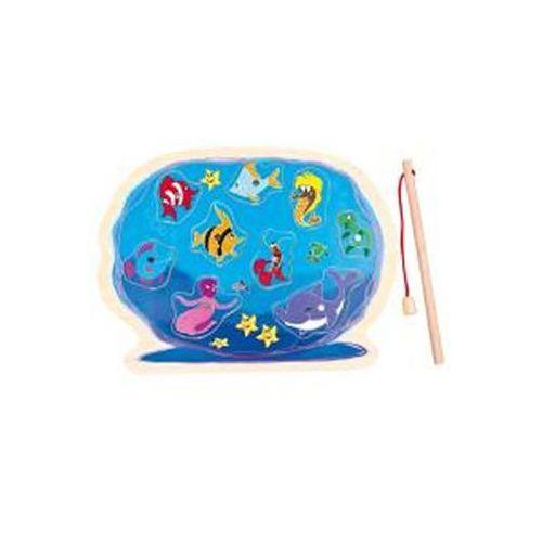 Neuveden Dřevěné puzzle - akvárium s prutem