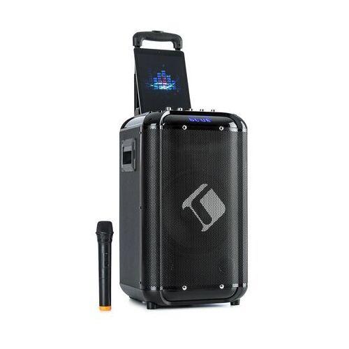 moving 100, zestaw nagłośnieniowy, 10-calowy głośnik niskotonowy, 50/150 w, mikrofon uhf, usb, sd, bt, aux, przenośny marki Auna