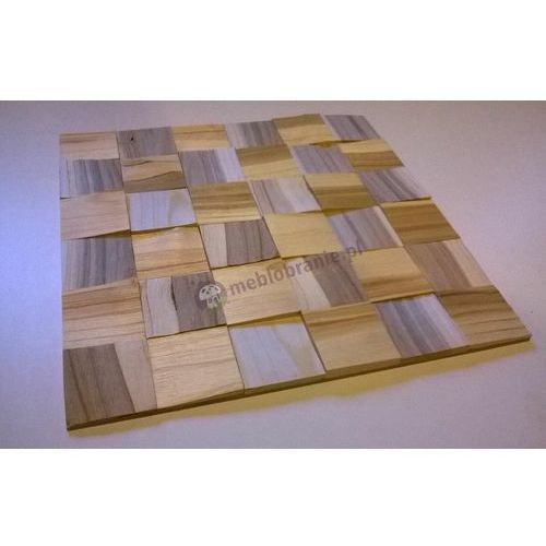 Panele Drewniane Czereśnia kostka łupana 3d *042 - , Natural Wood Panels