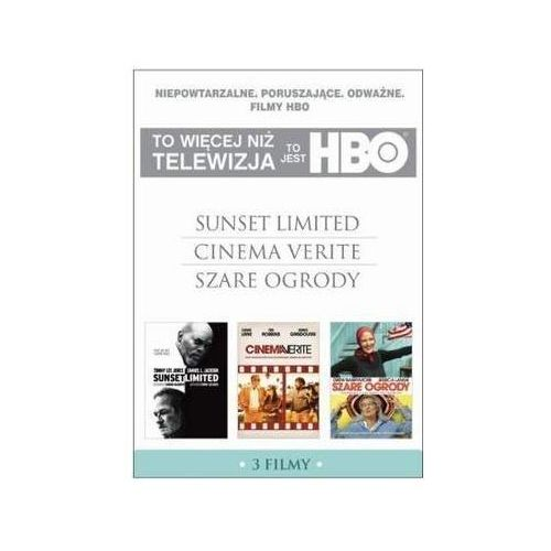 Galapagos films To jest hbo. pakiet 3 filmów (sunset limited, cinema verite, szare ogrody) (3 dvd) 7321910323809