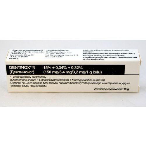 Dentinox N żel 10 g (import równoległy - Delfarma) (lek Pozostałeleki i suplementy)