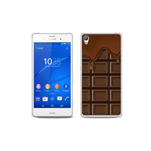 etuo Fantastic Case - Sony Xperia Z3 - etui na telefon Fantastic Case - tabliczka czekolady, kolor brązowy
