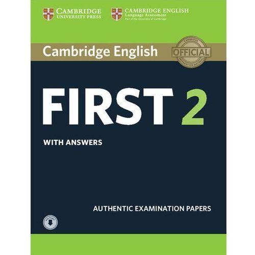 Cambridge English First 2. Student's Book with Answers + Audio, oprawa miękka