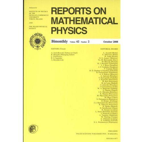 Reports ON Mathematical Physics 62/2 2008 (2016)