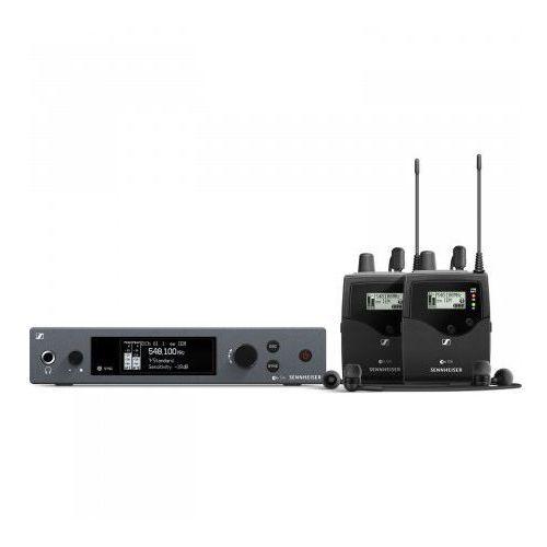 Sennheiser ew iem g4 twin a bezprzewodowy, osobisty 2 kanałowy system monitorowy, pasmo a (516-558 mhz)