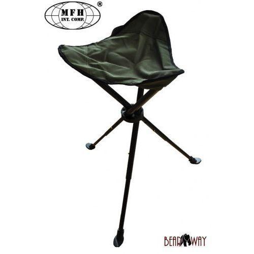 Stalowe składane krzesełko wędkarskie / campingowe MFH