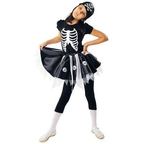 Strój Pani Szkielet, kostiumy dla dzieci Halloween - 122/128 - produkt z kategorii- kostiumy dla dzieci