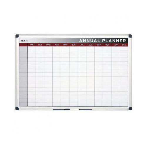 Planer, Tablica suchościeralno-magnetyczna do planowania rocznego, 900x600 mm (5603750073574)