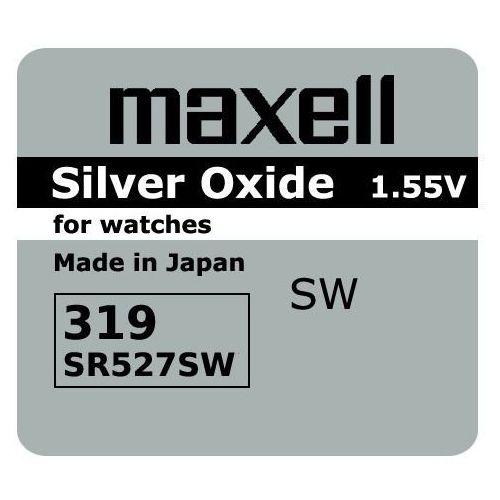 bateria srebrowa mini Maxell 319 / SR 527 SW, BATGUZMAX319SR527