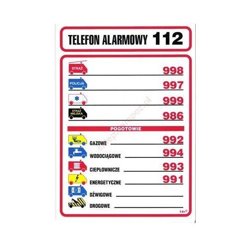 Techem Znak telefony alarmowe (04) fb