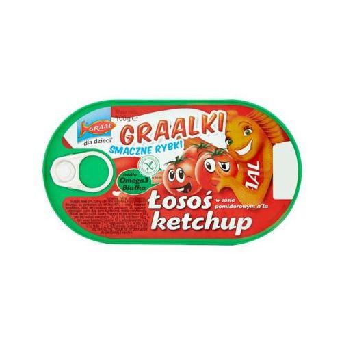 100g graalki łosoś w sosie pomidorowym a'la ketchup dla dzieci marki Graal