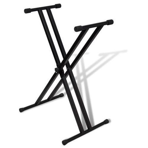 vidaXL Statyw pod keyboard, podwójny, regulowana wysokość, kształt X (8718475862673)
