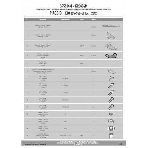 KAPPA KR5604M STELAŻ centralny PIAGGIO VESPA X10 125-350-500 (2012)