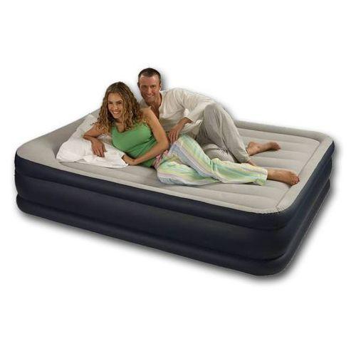 Puszysty materac wypoczynkowy z pompką elektryczną dwuosobowy, Intex