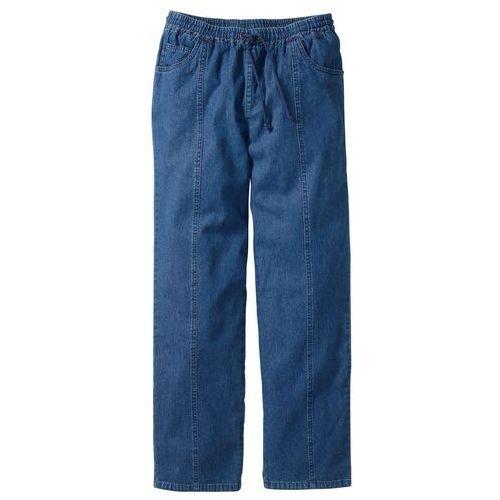 Spodnie z gumką w talii Classic Fit bonprix niebieski