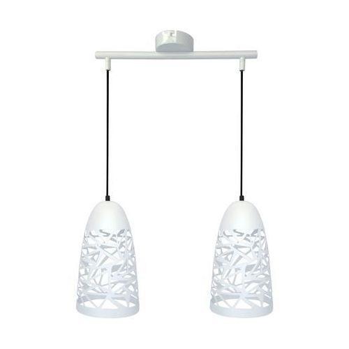 Candellux Lampa wisząca zwis żyrandol sabrin 2x60w e27 biały 32-54869