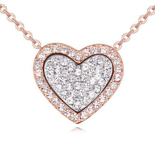 Exclusive by milla Exclusive naszyjnik pełne serce kryształowy - kryształowy