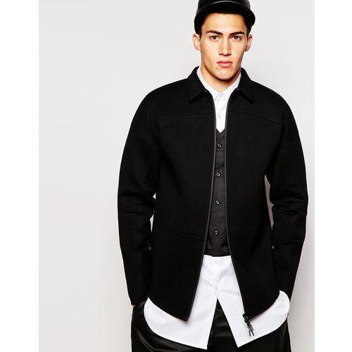 2xH Brothers Zip Up Neoprene Shirt - Black - sprawdź w ASOS