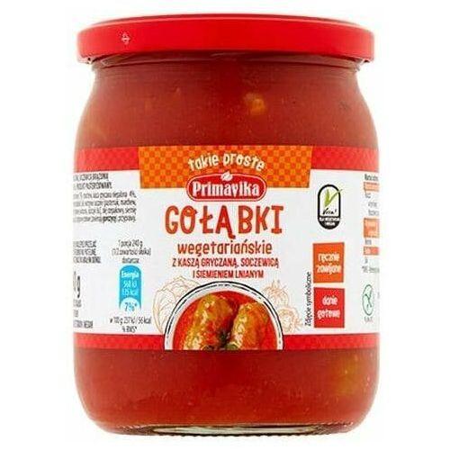 Primavika Gołąbki wegetariańskie z kaszą gryczaną, soczewicą i siemieniem lnianym 480g -
