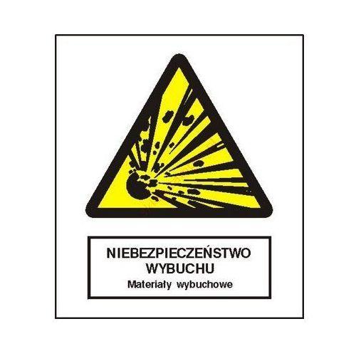 Znak niebezpieczeństwo wybuchu - materiały wybuchowe fb marki Techem