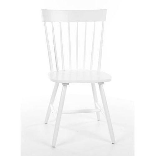Białe drewniane krzesło alero marki Signal