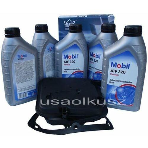 Półsyntetyczny olej atf320 oraz filtr oleju skrzyni biegów 4-spd chrysler 200 marki Mobil