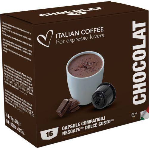 Nespresso kapsułki Chocolat italian coffee (czekolada na gorąco) kapsułki do dolce gusto – 16 kapsułek