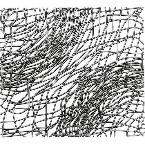 Koziol Panel dekoracyjny silk 4 szt. antracytowy transparentny